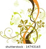 floral abstraction | Shutterstock .eps vector #14743165