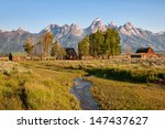 Mormon Row House And Barn In...