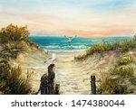 Original  Oil Painting Of Ocea...