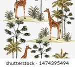 beautiful tropical vintage palm ... | Shutterstock .eps vector #1474395494