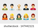 vector people portrait symbol... | Shutterstock .eps vector #147442121