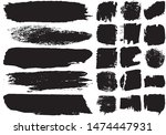 set of black brush strokes with ...   Shutterstock .eps vector #1474447931