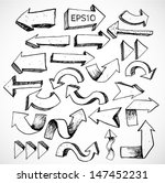 sketch arrow collection for... | Shutterstock .eps vector #147452231
