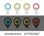 set of dark and white pointers | Shutterstock .eps vector #147454367