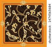 square fashion orange vintage... | Shutterstock .eps vector #1474565684