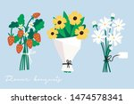 hand drawn vector set of three... | Shutterstock .eps vector #1474578341