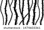blackthorn branches with thorns ... | Shutterstock .eps vector #1474603361