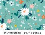 garden flower  plants ... | Shutterstock .eps vector #1474614581