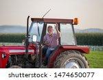 Senior Old Man Driving Small...