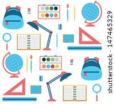 back to school   flat seamless... | Shutterstock .eps vector #147465329