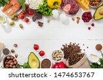 ketogenic low carbs diet   food ...   Shutterstock . vector #1474653767