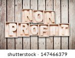 non profit wood word style | Shutterstock . vector #147466379