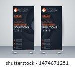 business roll up. standee... | Shutterstock .eps vector #1474671251