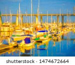 Impressionistic View Of Yachts...