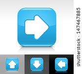 arrow icon set. blue color...