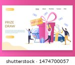 Stock vector prize draw vector website template web page and landing page design for website and mobile site 1474700057