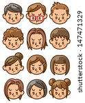 people face icon   Shutterstock . vector #147471329