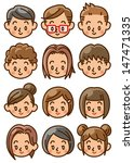 people face icon | Shutterstock . vector #147471335