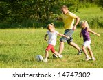 dad and little daughters... | Shutterstock . vector #14747302