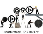 teamwork works together to... | Shutterstock . vector #147480179