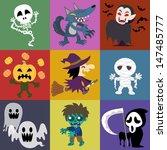 a variety of halloween roles | Shutterstock . vector #147485777