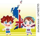 england boy  girl map and... | Shutterstock . vector #147485795