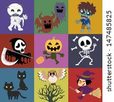 a variety of halloween roles | Shutterstock . vector #147485825