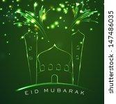 muslim community festival eid... | Shutterstock .eps vector #147486035