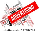a word cloud of advertising... | Shutterstock .eps vector #147487241