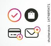 template set icons social media ...