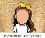 caricature portrait of the face ...   Shutterstock .eps vector #1474897367
