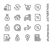loan line icons set vector... | Shutterstock .eps vector #1474897454