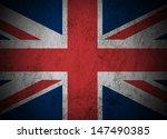 great britain flag on grunge... | Shutterstock . vector #147490385
