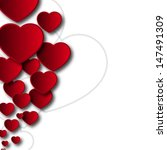 hearts background   vector | Shutterstock .eps vector #147491309