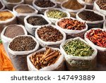indian spices in anjuna flea... | Shutterstock . vector #147493889
