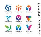 modern letter y logo design... | Shutterstock .eps vector #1474939517
