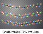 christmas lights. xmas string ... | Shutterstock .eps vector #1474950881