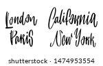 hand drawn lettering london... | Shutterstock .eps vector #1474953554