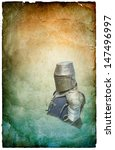 Armored Knight In Helmet With...