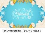 oktoberfest party illustration... | Shutterstock .eps vector #1474970657