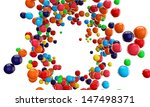 Gumballs Isolated On White...
