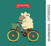 trip. happy lamb rides his a... | Shutterstock .eps vector #147500315