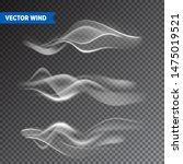 realistic wind set on... | Shutterstock .eps vector #1475019521