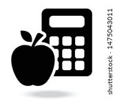 calorie calculator icon ....