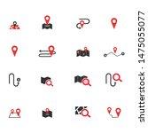 navigation flat icon set for...   Shutterstock .eps vector #1475055077