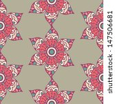 seamless pattern with floral...   Shutterstock .eps vector #147506681
