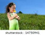 Little Girl In A Grassy Meadow...