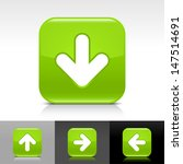 arrow download icon set. green...