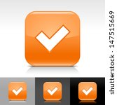 check mark icon. orange color...