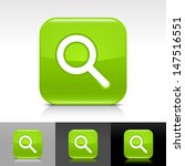 magnifying glass icon. green...